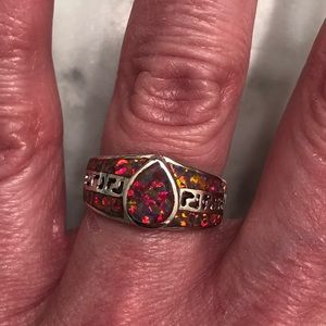 Jewelry - NWOT Orange Opal Fashion Ring